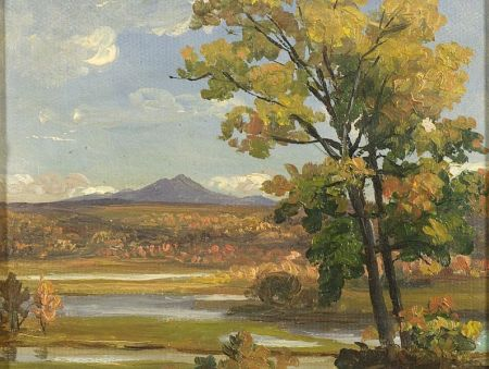 Benjamin Champney (American, 1817-1907)    Distant Peak, Autumn