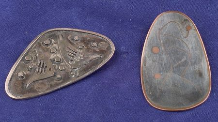 Two Silver Abstract Brooches, Taxco