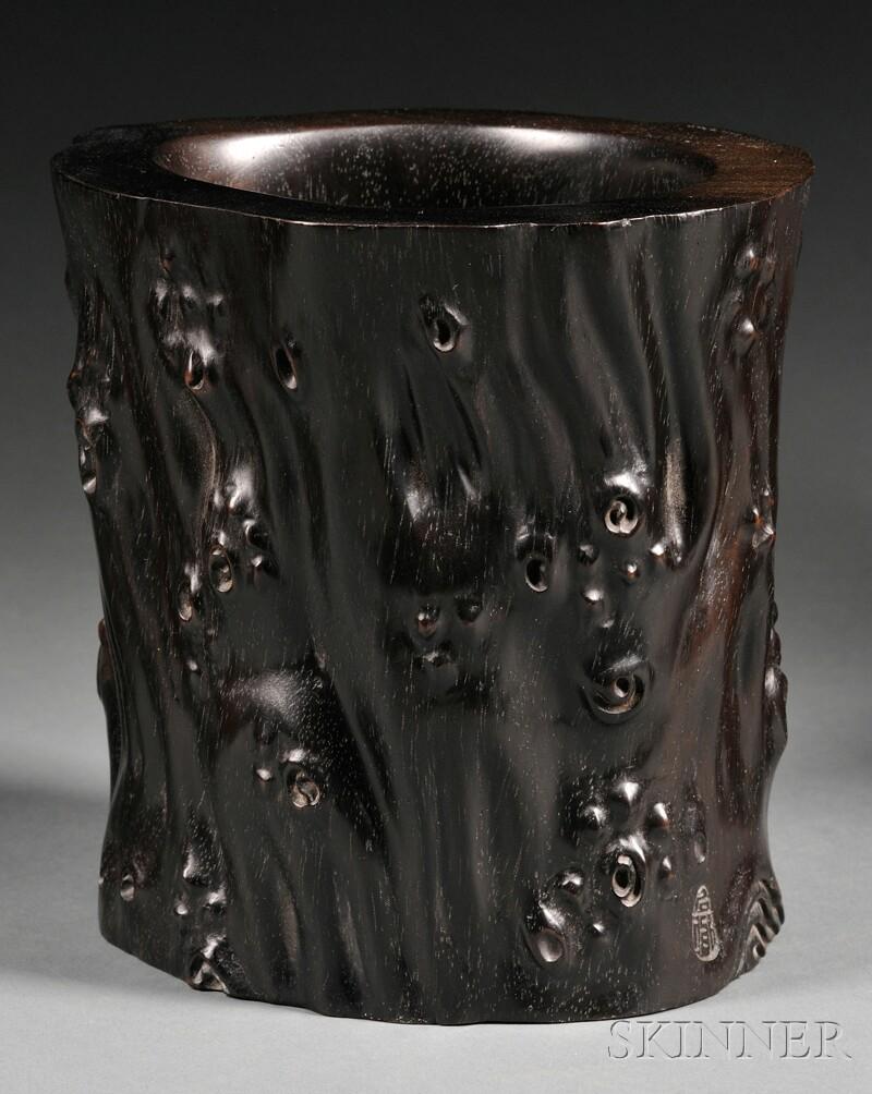 Hardwood Brush Pot