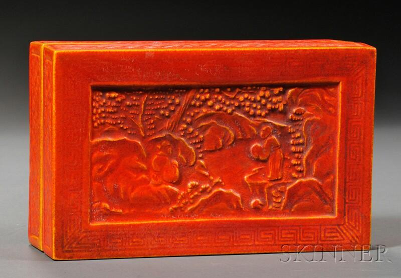 American Encaustic Tile Covered Box