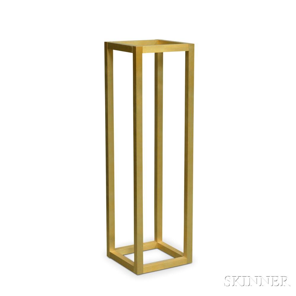 Modern Glass-top Brass Table