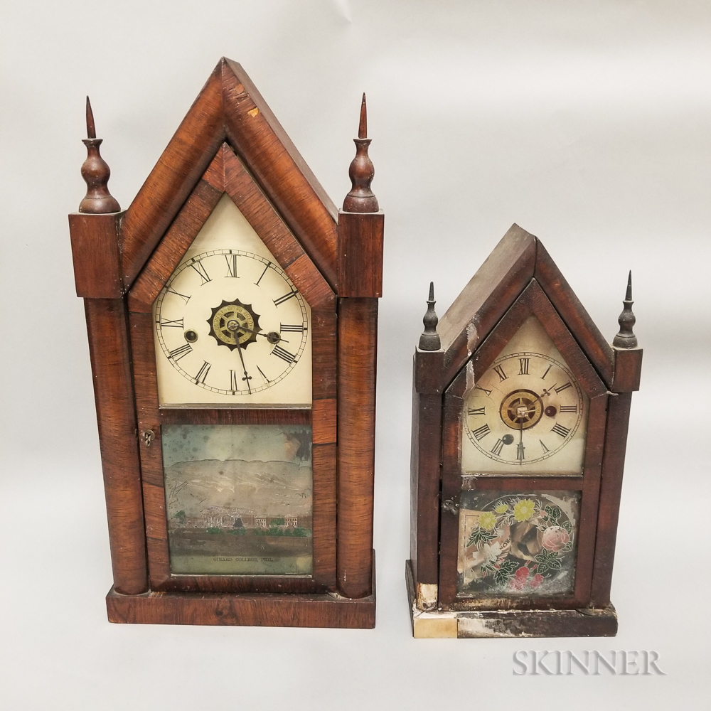 Two Thirty-hour Steeple Clocks