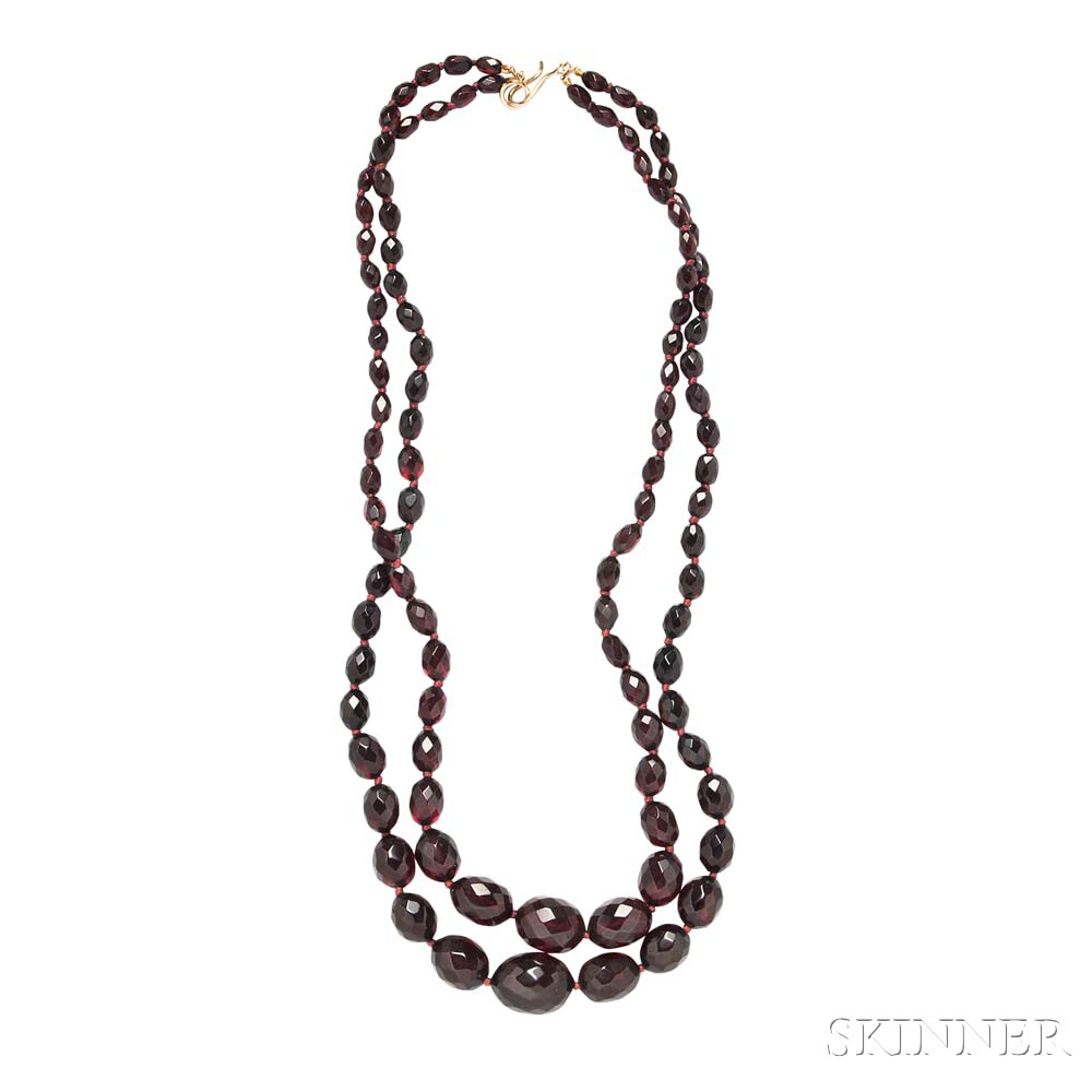 Reconstituted Amber Bead Necklace