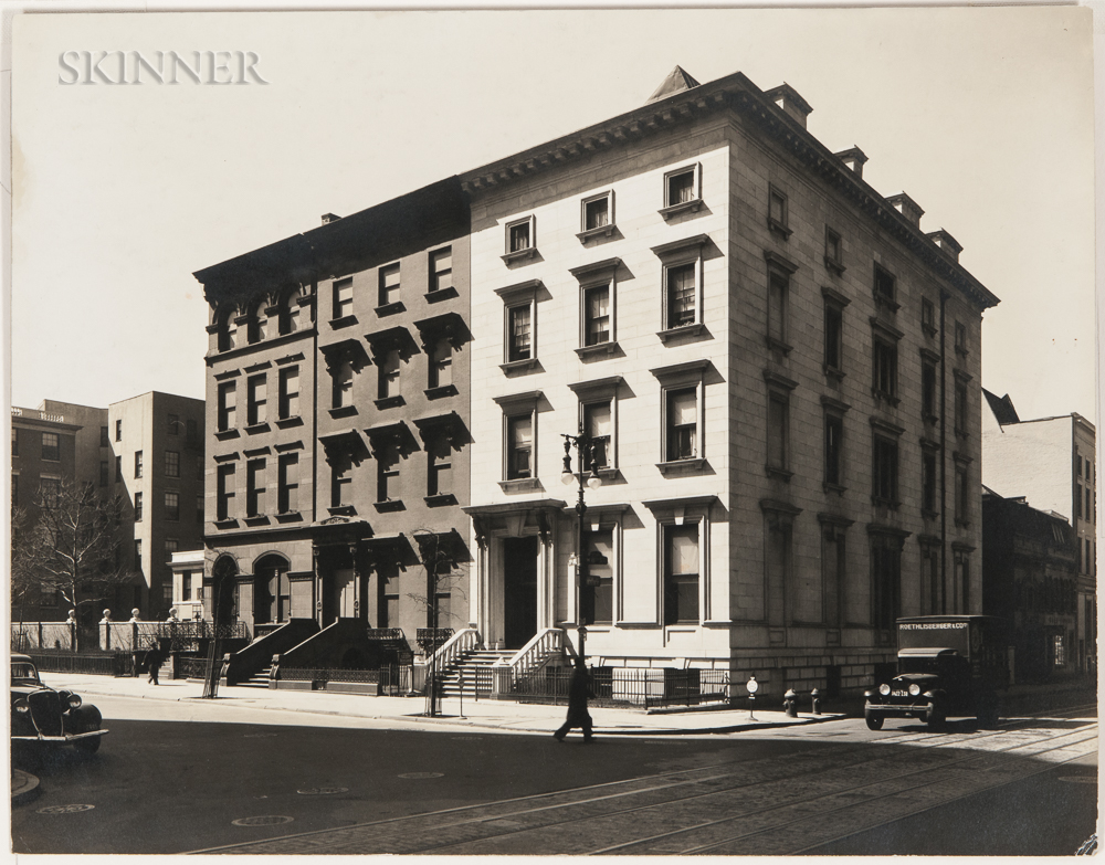 Berenice Abbott (American, 1898-1991)      Fifth Avenue, Nos. 4, 6, 8, Manhattan