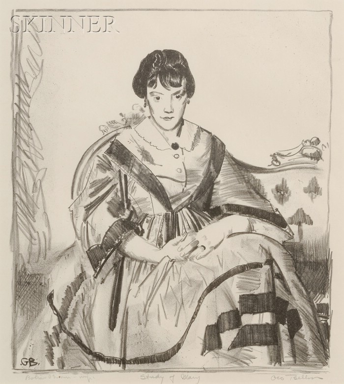 George Wesley Bellows (American, 1882-1925)      Study of Mary