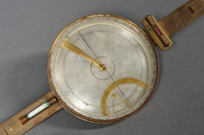 Early Brass Surveyor's Compass