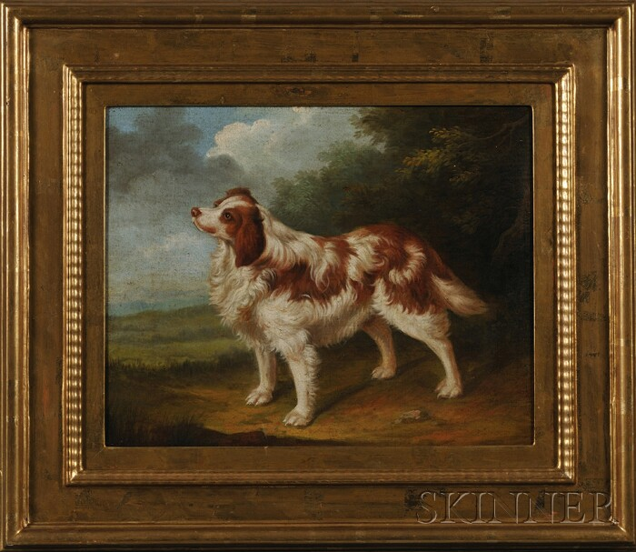 Lot of Two Paintings of Dogs, British School, 19th Century Style      White Terrier