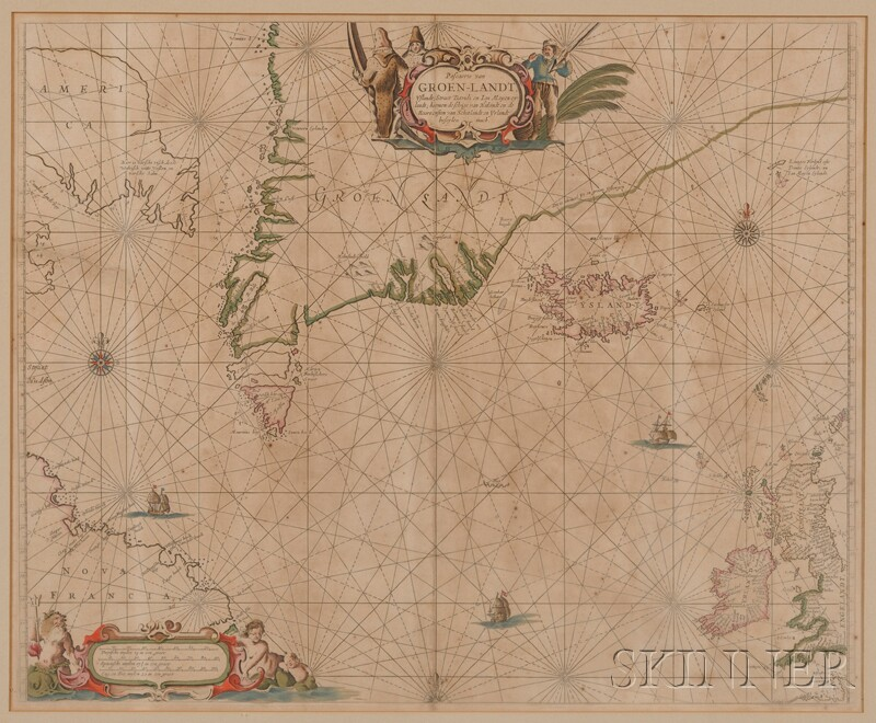 (Maps and Charts, Greenland), Goos, Pieter
