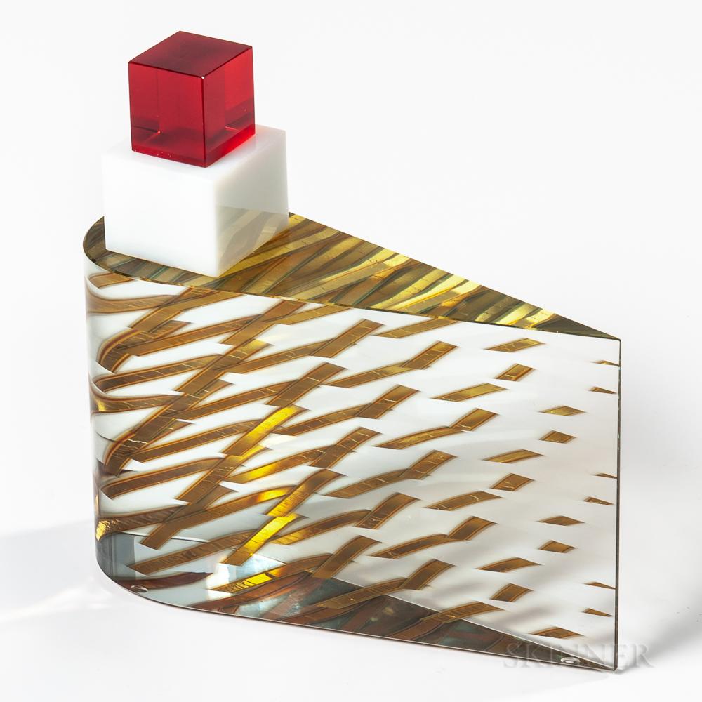 Tomas Hlavicka Glass and Gold-leaf Sculpture