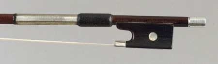 French Silver Mounted Violin Bow, Eugene Sartory, c. 1890