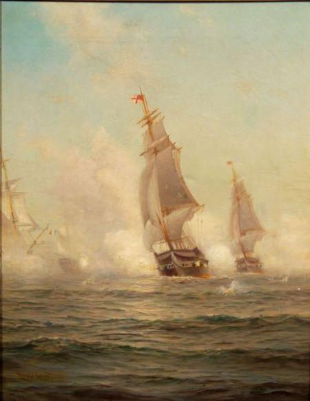 Warren Sheppard (American, 1858-1937)    Battle at Sea