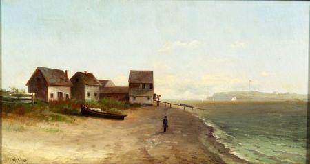 Wesley Webber (American, 1839-1914)    On the Beach