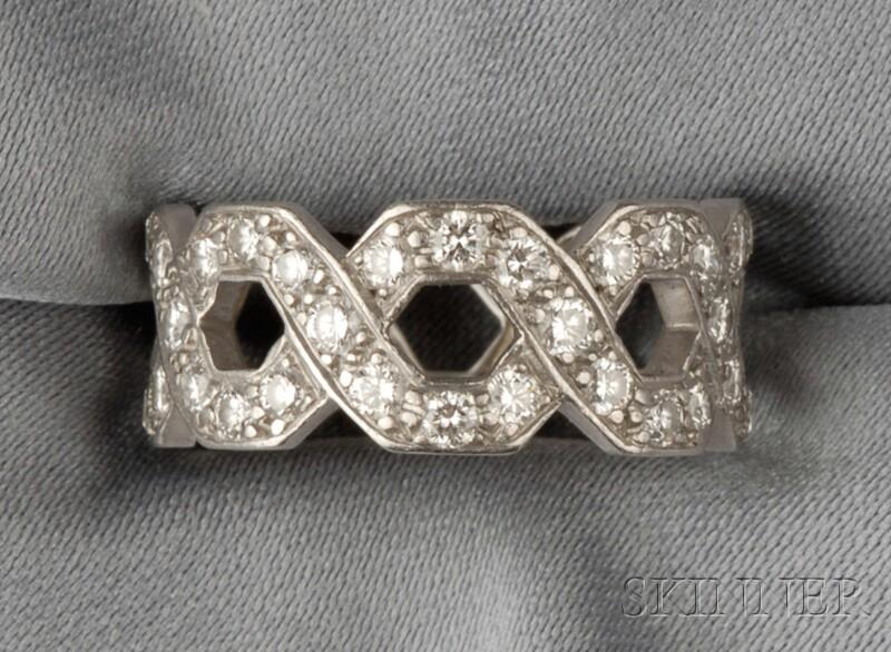 "Platinum and Diamond ""Eternal Link"" Ring, Tiffany & Co."