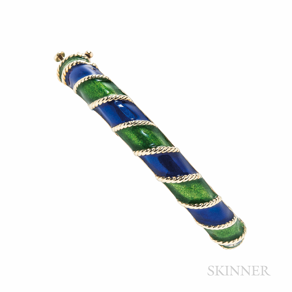 14kt Gold and Enamel Bracelet