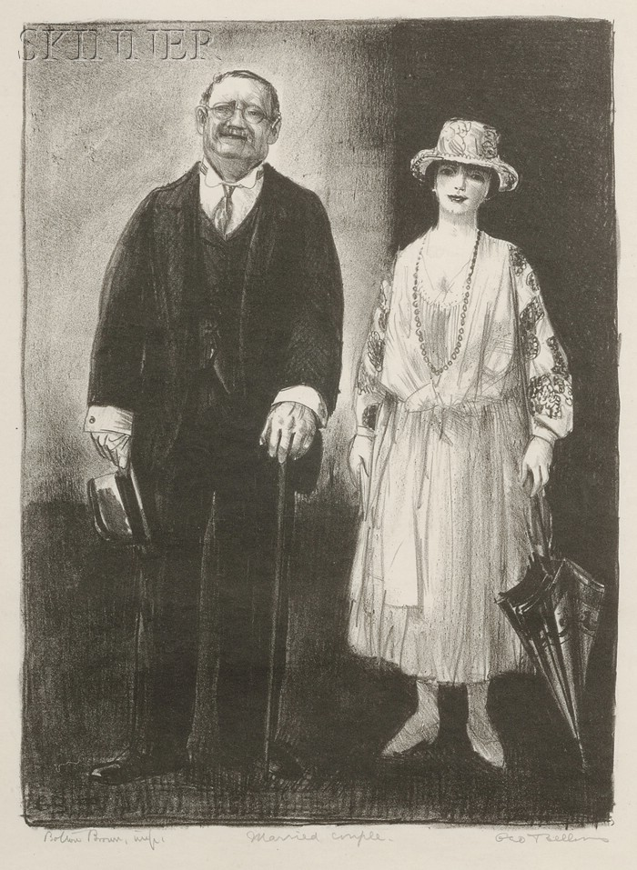 George Wesley Bellows (American, 1882-1925)      Married Couple