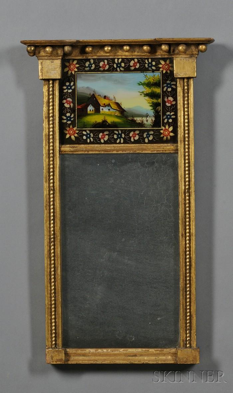 Federal Gilt-gesso Mirror