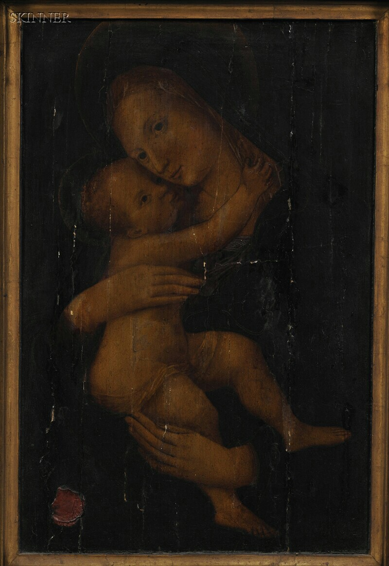 Italian School, 19th Century      Madonna and Child, After a Relief by Donatello