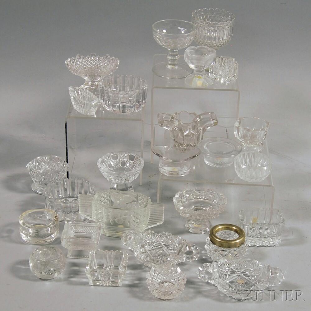 Twenty-six Colorless Glass Salts
