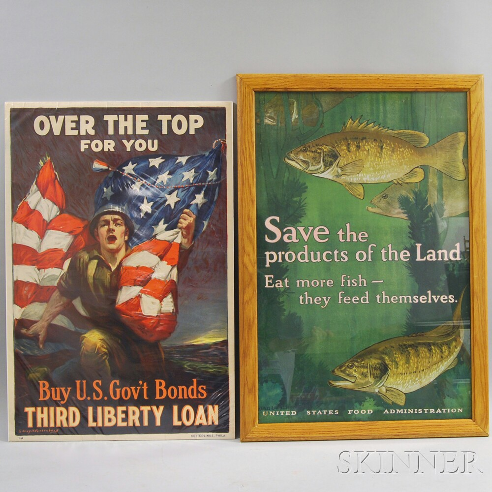 Two U.S. WWI Lithograph Posters