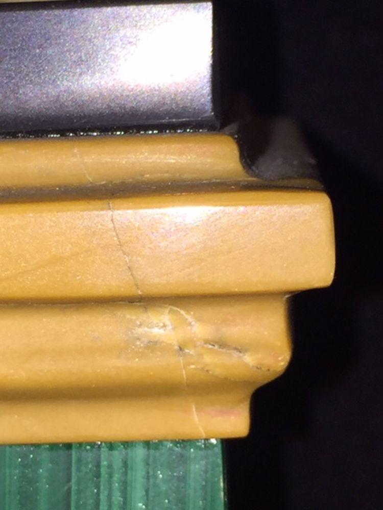Pair of Malachite-inlaid Marble Cassolettes