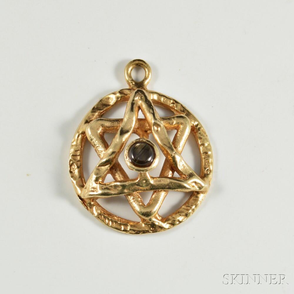 14kt gold and black star sapphire star of david pendant sale 14kt gold and black star sapphire star of david pendant aloadofball Choice Image