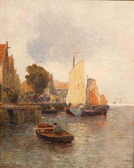 Karl Wagner (German, 1839-1923)    Coming Ashore