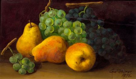 Charles Storer (American, 1817-1907)    Still Life with Fruit