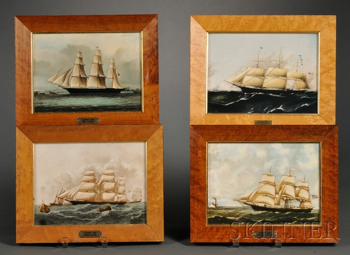 Four Wedgwood Clipper Ship Plaques