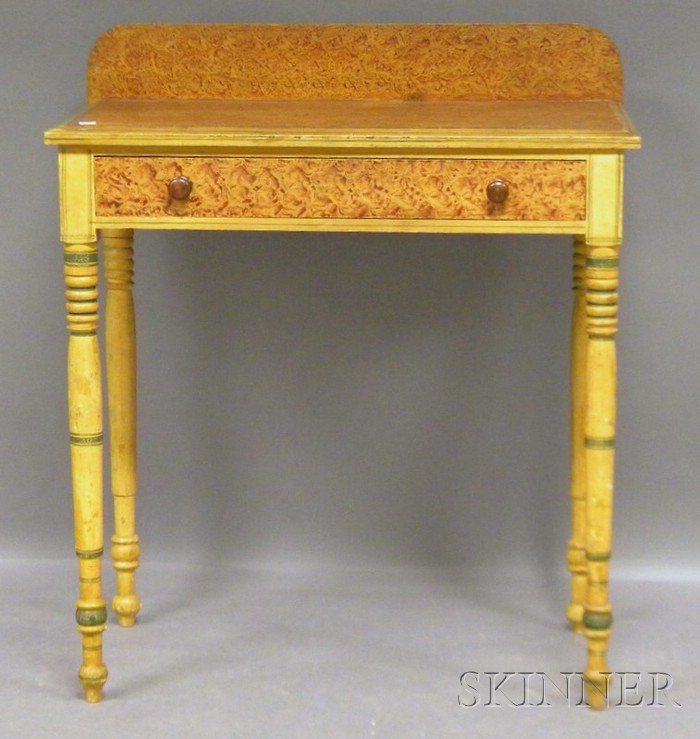 Fancy-painted Pine Dressing Table