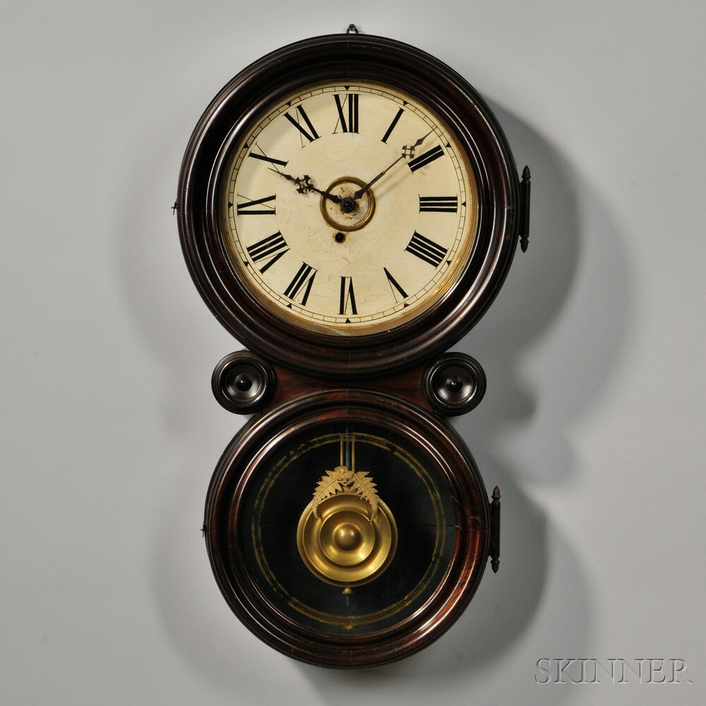 E Ingraham Rosewood Quot Ionic Quot Wall Clock Sale Number