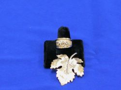 14kt Gold Ring and Leaf-shaped Pin.