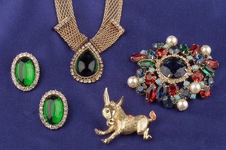 Group of Costume Jewelry Items, Hattie Carnegie