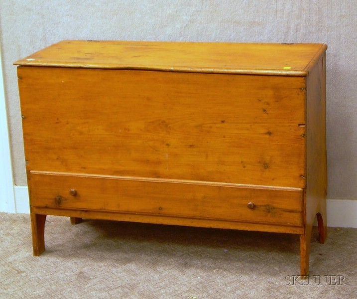 Late 18th Century Pine Blanket Chest over Long Drawer.