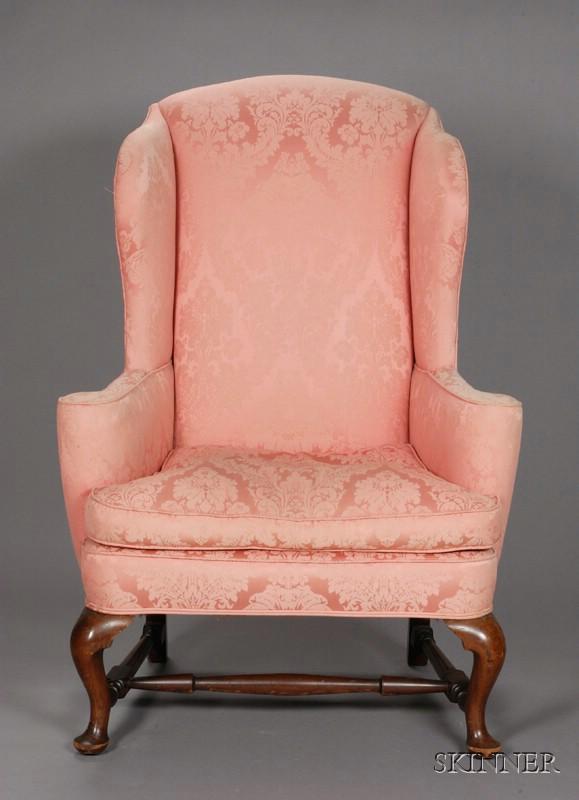 Early Georgian Mahogany Wing Chair