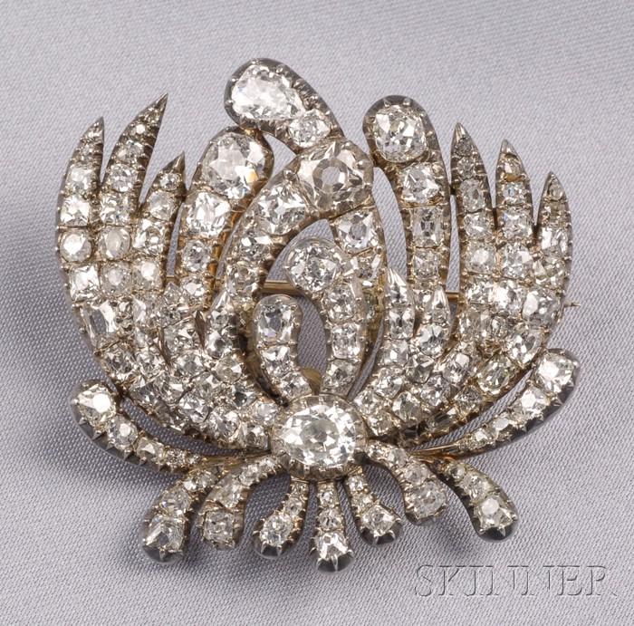 Georgian Diamond Brooch