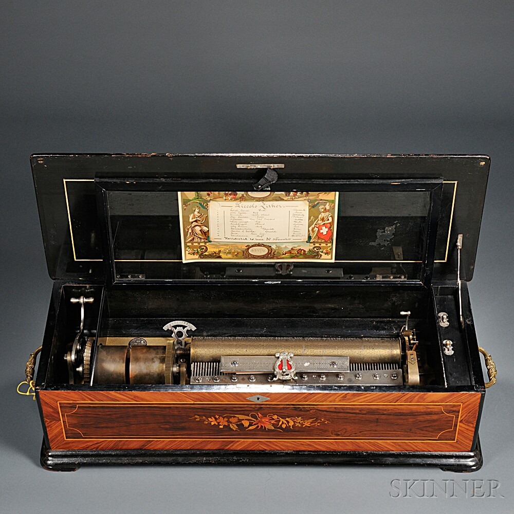 Twelve-air Piccolo Zither Cylinder Musical Box