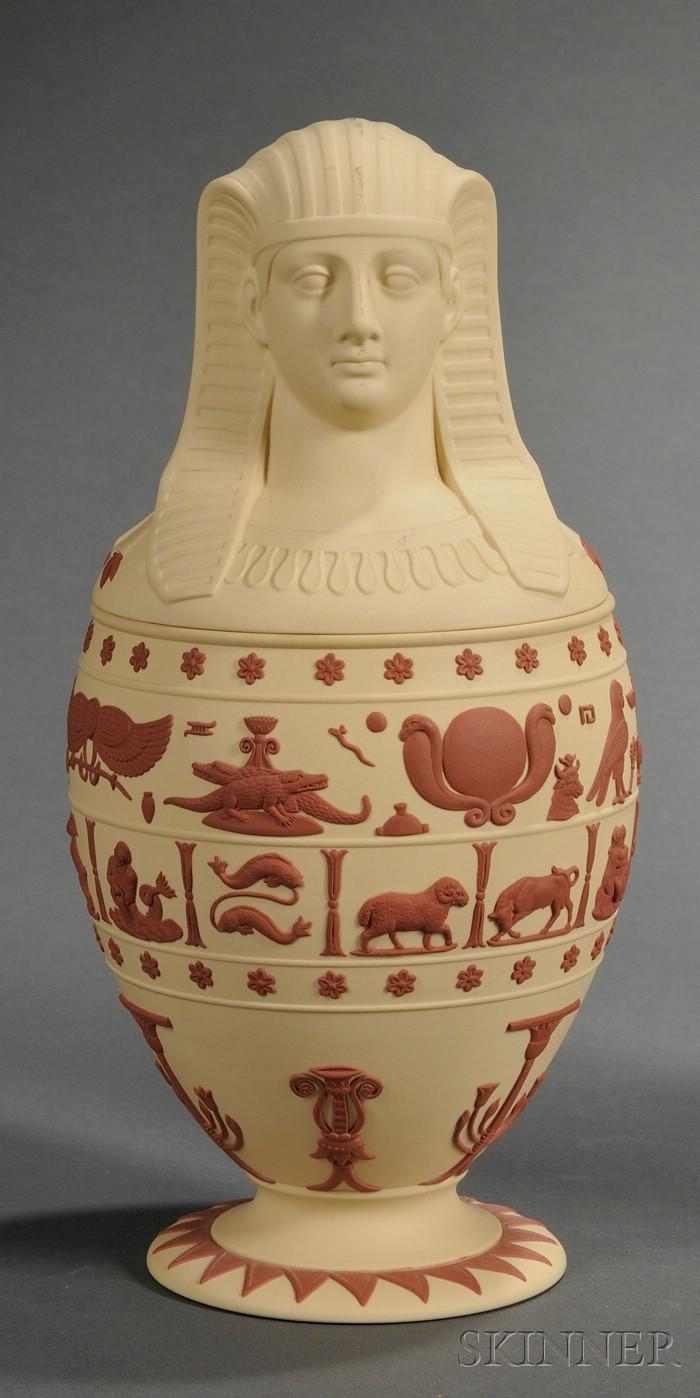 Wedgwood Primrose Jasper Canopic Jar and Cover