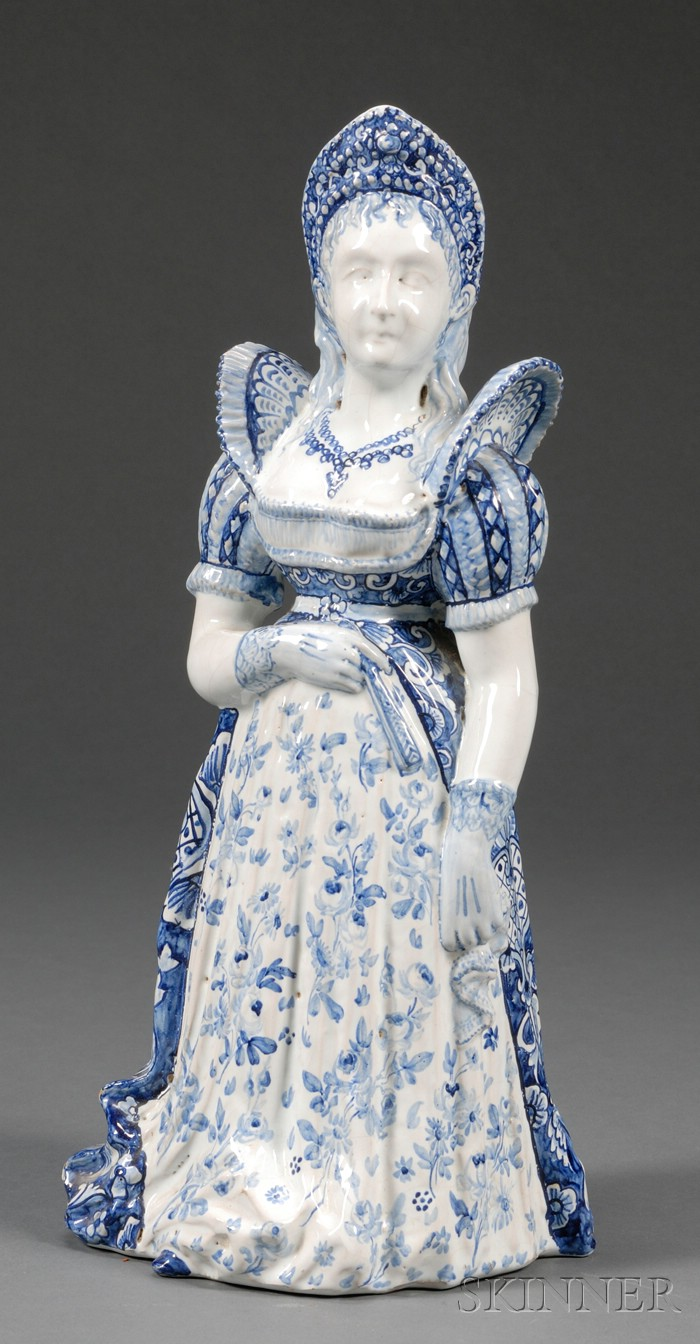 Delft Figural Pitcher