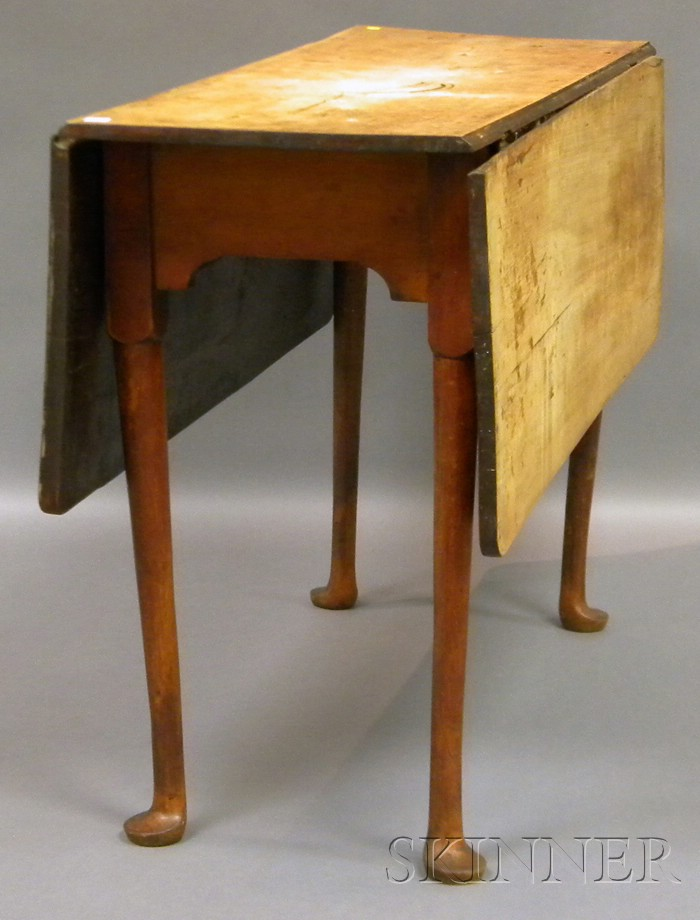 Queen Anne Scrub-top Red-painted Cherry Drop-leaf Table