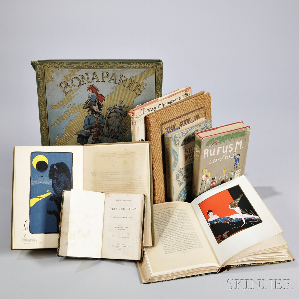 Varia: Children's, Illustrated, Erotica, Cookbook, Limited and Signed, Eight Volumes.
