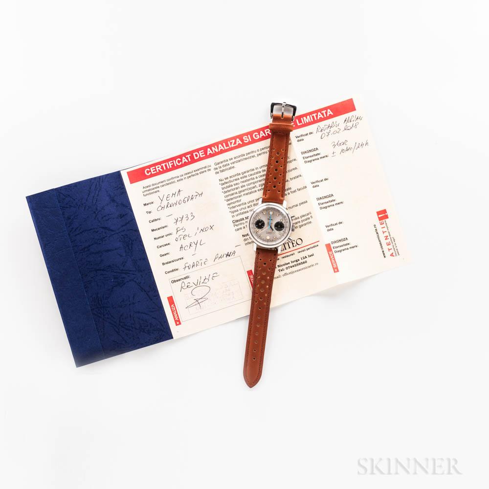 Yema Two-register Chronograph Wristwatch