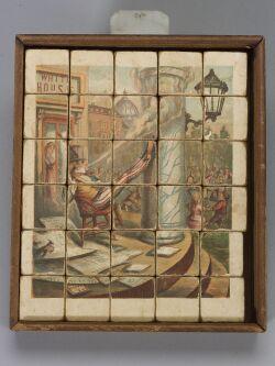 Set of Patriotic Picture Blocks by Thomas Nast