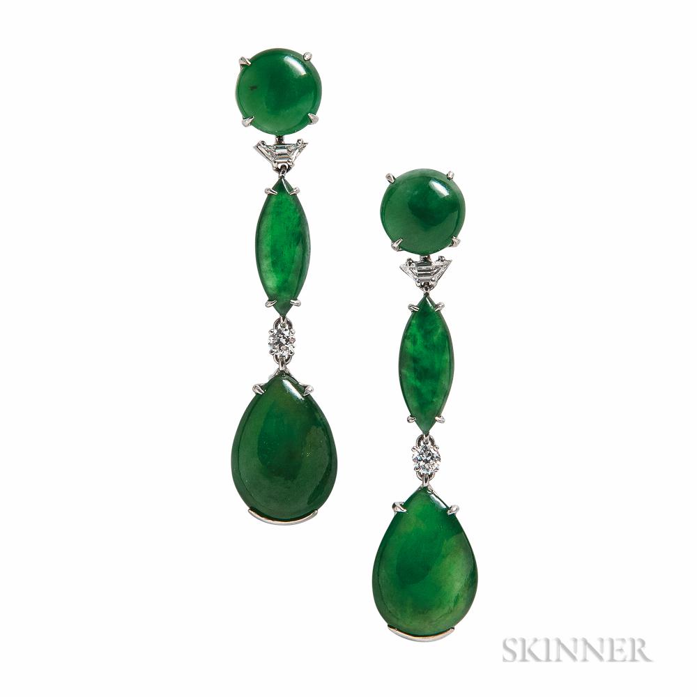 Platinum, Jade, and Diamond Earrings, Wedderien