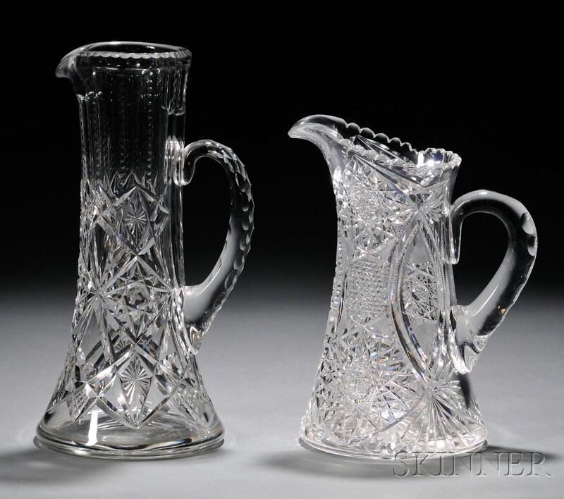Two Brilliant-cut Glass Pitchers