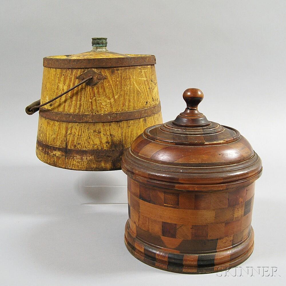 Two Lidded Vessels