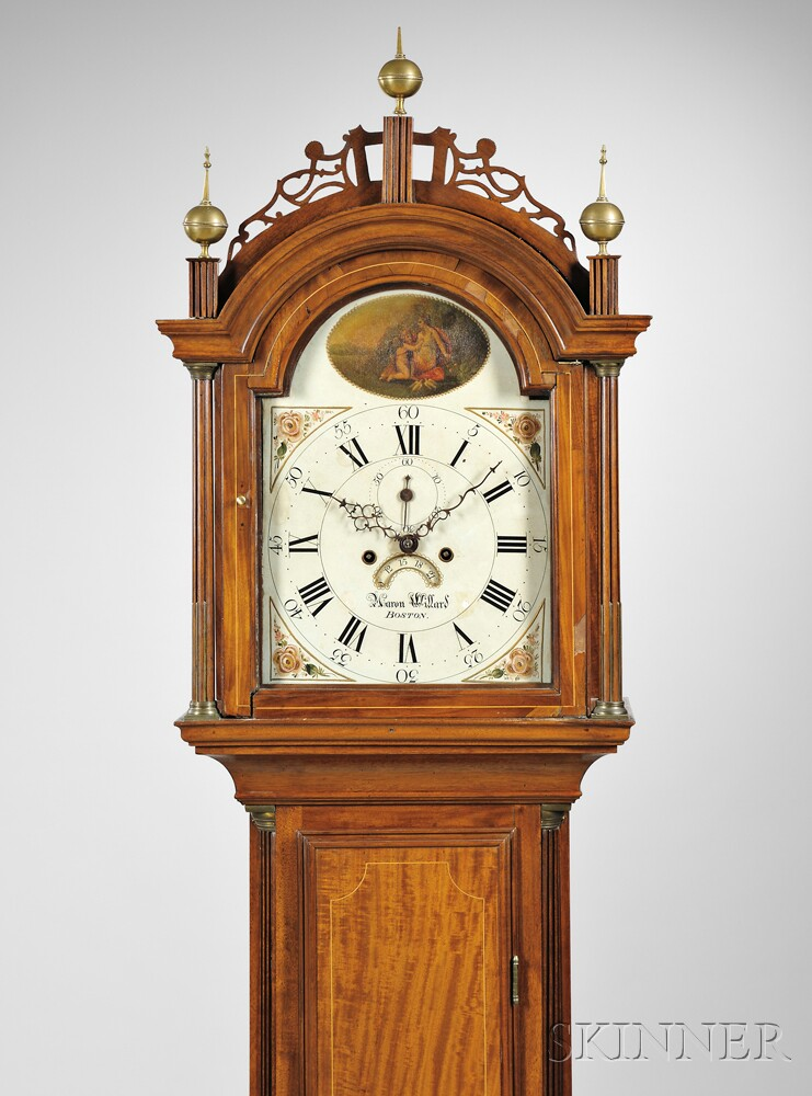 Aaron Willard Mahogany Tall Clock