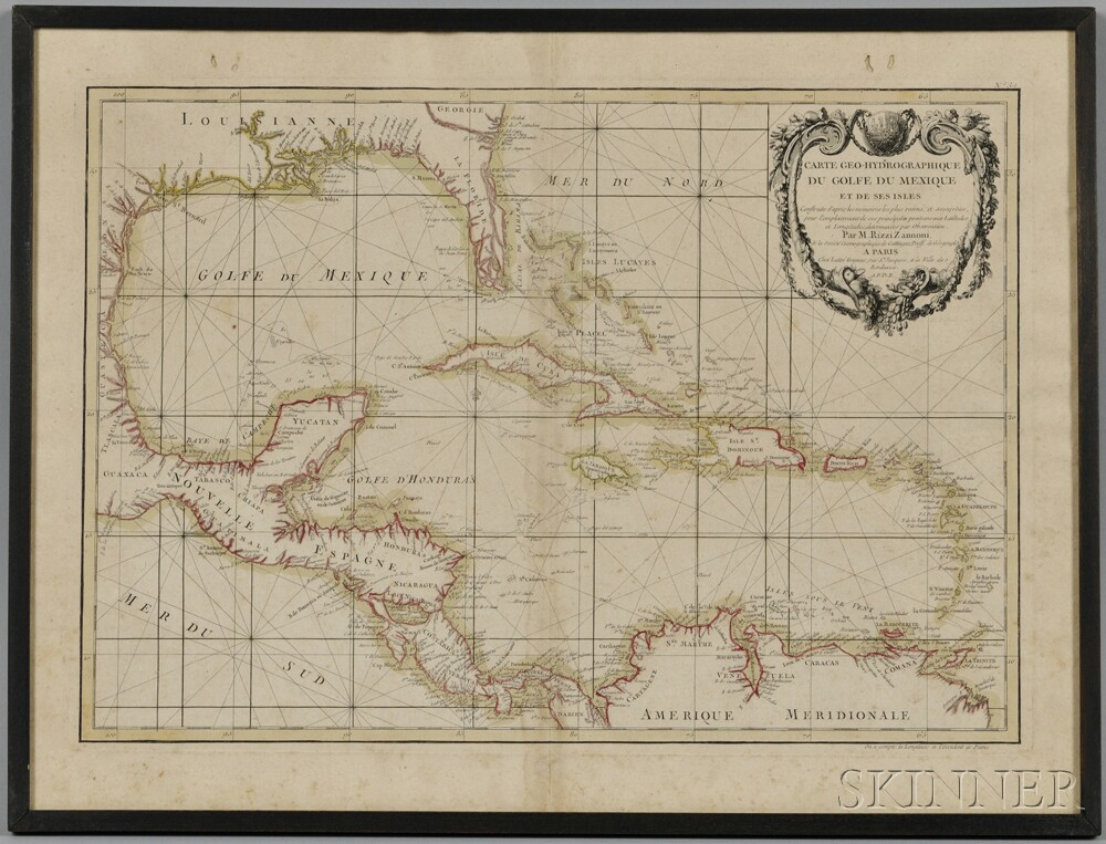 Gulf Of Mexico Caribbean Central America Two Framed