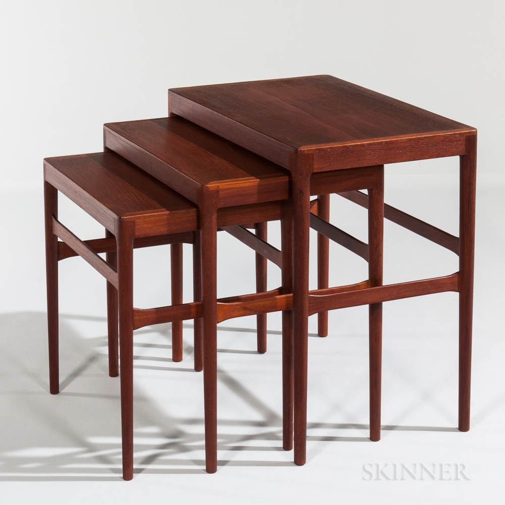 Three Danish Modern Teak Nesting Tables