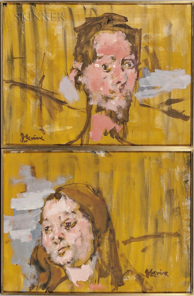 Jack Levine (American, 1915-2010)      Studies for Adam