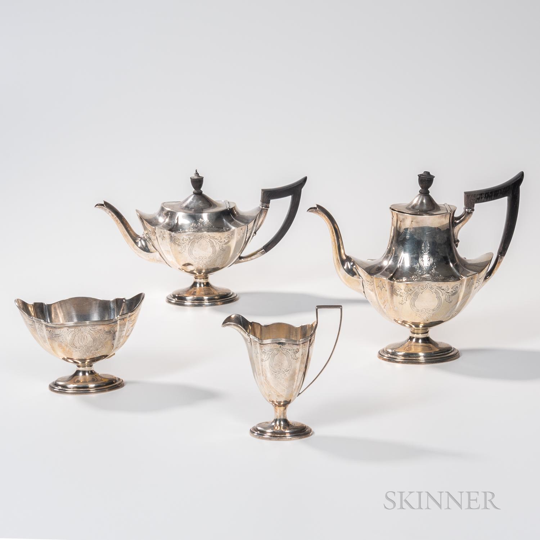 Gorham Four-piece Sterling Silver Tea Service